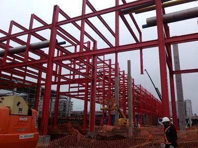 AMBEV - Pipe Rack :: Bimetal Indústria Metalúrgica Ltda